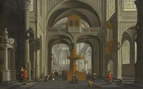 Picture oil, picture, 1652, Daniel de Blik, Daniel de Blieck, The interior of the Church
