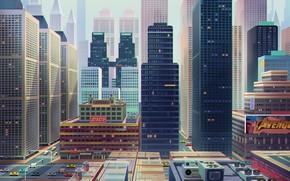 Picture Figure, The city, Building, City, Architecture, Art, Art, Skyscrapers, Buildings, Skyscrapers, Architecture, Figure, XIAO CUI, …