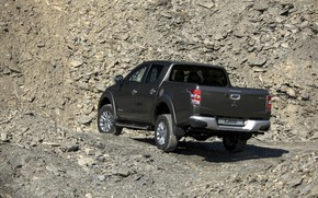 Picture back, Mitsubishi, side view, pickup, L200, 2015