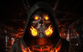 Picture Music, Fire, Style, Mask, Flame, Hood, Fire, Art, Music, Fiction, Dubstep, Rendering, Alex MTCH, Adrian …