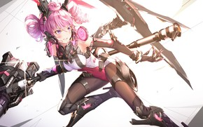 Picture Girl, Weapons, Art, Guns