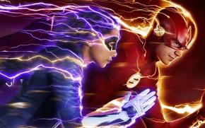 Picture the series, Flash, The Flash, Grant Gustin, Grant Gastin, Nora, Nora