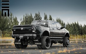 Picture Dodge, Ram, Custom, Wheels, 3500, Dodge Ram Laramie Longhorn, American Force