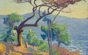 Picture landscape, picture, 1912, Paul Madeline, Red Rocks, Paul Madeline