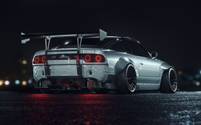 Picture Auto, Night, Machine, Nissan, Car, Render, Night, Transport & Vehicles, Togrul Hasanov, by Togrul Hasanov, …