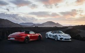 Picture red, 911, Porsche, valley, Speedster, 991, 2019, gray-silver, 991.2