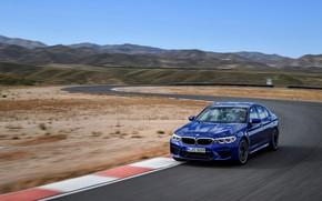 Picture hills, track, BMW, sedan, BMW M5, 2017, M5, F90