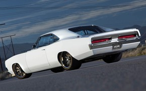 Picture Dodge, Charger, White, Dodge Charger, Muscle car