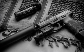 Picture gun, Weapons, gun, pistol, weapon, muffler, Tactical, Heckler Koch, Tactical, silencer, VP9, Heckler & Koch, ...