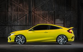 Picture coupe, Honda, in profile, 2015, Civic Concept