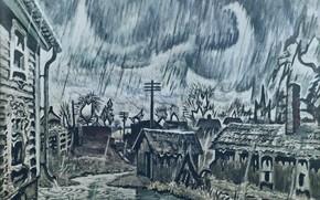 Wallpaper Charles Ephraim Burchfield, 1917-55, Night of the Equinox