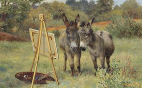 Picture English painter, British painter, The unlikely connoisseurs, Herbert William Wicks, Herbert William Weekes, Incredible experts