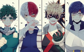 Picture collage, guys, My Hero Academia, Boku No Hero Academy, My Hero Academy
