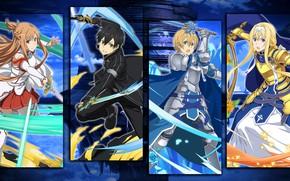 Picture collage, characters, Sword art online, Sword Art Online