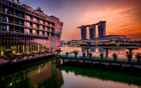 Picture landscape, the city, Singapore