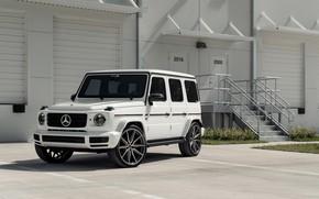 Picture Mercedes, AMG, White, New, G63, Vossen, W464
