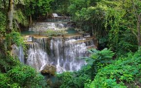 Picture waterfall, Thailand, cascade, Khuean Srinagarindra National Park, Huay Mae Khamin
