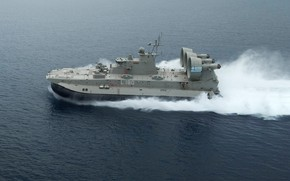 """Picture Sea, Small landing craft air cushion, MDKVP """"bison"""", The hovercraft, Kefalonia L-180, The Greek Navy"""