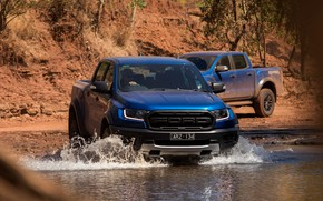 Picture water, Ford, Raptor, 2018, Ranger, Ford, pickups
