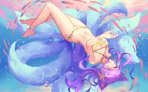 Picture Girl, Swimsuit, Art, League of Legends