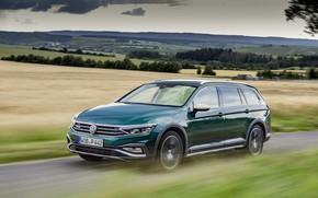 Picture speed, Volkswagen, universal, Passat, dark green, Alltrack, 2019