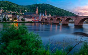 Picture bridge, river, building, home, Germany, Germany, Old bridge, Baden-Württemberg, Baden-Württemberg, Heidelberg, Old Bridge, Heidelberg, Neckar …