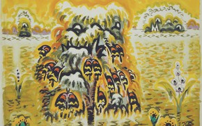 Picture 1960, Charles Ephraim Burchfield, Golden Dream, The Butterfly Tree