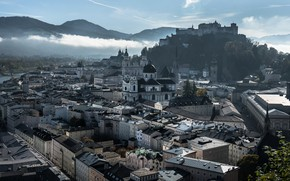 Picture the city, morning, Salzburg