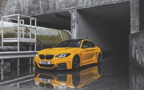 Picture yellow, BMW, F22, manhart, M235i, 2-series, BMW manhart mh2, manhart mh2, mh2, coupe., MH2 Widebody