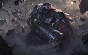 Picture Gun, League of Legends, Skin, LOL, Game Art, Bo Chen, by Bo Chen, Praetorian Graves …