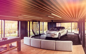Picture transport, ladder, car, the room, Renault Symbios Concept