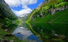 Wallpaper Switzerland, mountains, lake, Switzerland
