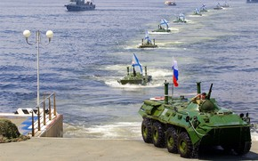 Picture promenade, BTR, Of the Navy of Russia, The Flag Of St. Andrew
