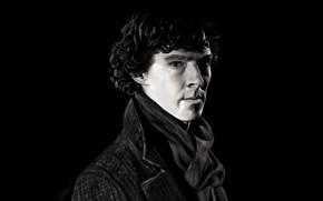Picture look, black background, Sherlock, Sherlock BBC, Sherlock Holmes, Sherlock (TV series), by beth193