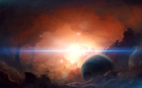Picture Stars, Planet, Space, Nebula, Light, Planet, Fantasy, Planets, Art, Stars, Space, Blik, Art, Satellite, Planet, …