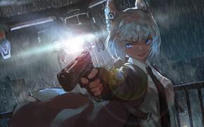Picture Girl, Gun, Rain