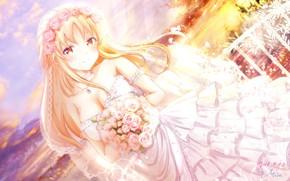 Picture Girl, Bouquet, The bride, girlfriend (kari)
