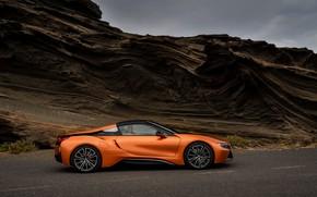 Picture roof, overcast, BMW, Roadster, 2018, i8, dark orange, i8 Roadster