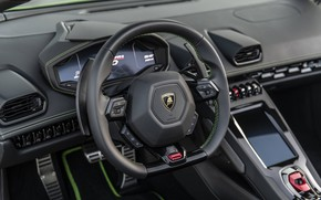 Picture Lamborghini, the wheel, salon, Spyder, Evo, Huracan, 2019, Huracan Evo, North America version