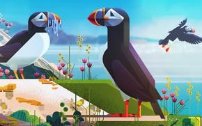 Picture Minimalism, Bird, Birds, Style, Animals, Art, Art, Style, Digital, Illustration, Minimalism, illustration, Animals, James Gilleard, …