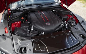 Picture coupe, Toyota, Supra, the fifth generation, mk5, double, under the hood, 2019, UK version, GR …