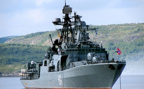 Picture ship, large, Navy, anti-submarine, project 1155, Severomorsk