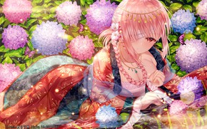 Picture Flowers, Girl, art, Fate / Grand Order, The destiny of a great campaign