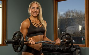 Picture smile, blonde, fitness