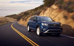 Picture speed, Volkswagen, SUV, Atlas, 2020, 2021