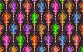 Picture graphics, feathers, background, digital art, texture