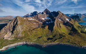 Picture mountains, coast, Norway