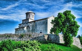 Picture tree, Church, WIDESCREEN, SERBIA, CHURCH