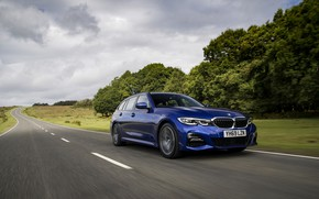 Picture BMW, 3-series, universal, on the road, 320d, 3P, 2020, UK version, G21, xDrive Touring