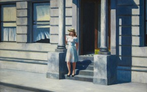 Picture Edward Hopper, 1943, Summertime